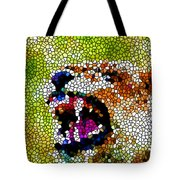 Stained Glass Leopard 3 Tote Bag