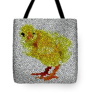 Stained Glass Little Chicken Tote Bag