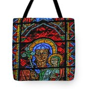 Stained Glass Of Chartres Tote Bag