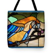 Stained Glass Parrot Window Tote Bag