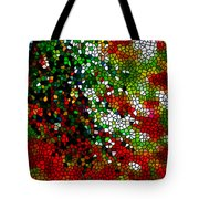 Stained Glass Pine Tree Tote Bag