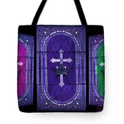 Stained Glass - Purple Tote Bag