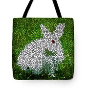 Stained Glass Rabbit Tote Bag
