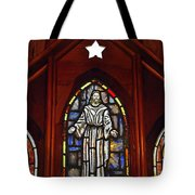Stained Glass Saviour Tote Bag