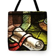 Stained Glass Scroll Tote Bag