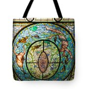 Stained Glass Skylight In Fordyce Bathhouse Tote Bag