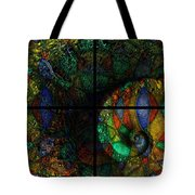 Stained Glass Spiral Tote Bag