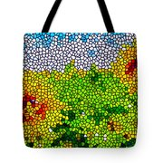 Stained Glass Sunflowers Tote Bag