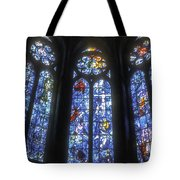 Stained Glass Triplets Tote Bag