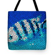 Stained Glass Underwater Fish Tote Bag