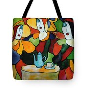 Stained Glass V Tote Bag