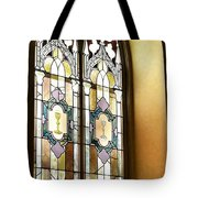Stained Glass Window In Arch Tote Bag