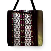 Stained Glass Window In Saint Paul's Episcopal Church-1882 In Tombstone-az Tote Bag
