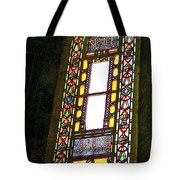 Stained Glass Window In Saint Sophia's In Istanbul-turkey  Tote Bag
