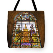 Stained Glass Window In Seville Cathedral Tote Bag