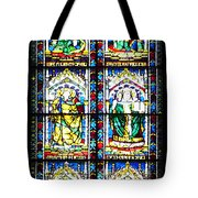Stained Glass Window Of Santa Maria Del Fiore Church Florence Italy Tote Bag