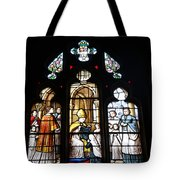 Stained Glass Window V Tote Bag