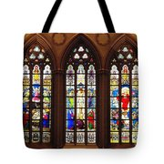 Stained Glass Windows At Saint Josephs Cathedral Buffalo New York Tote Bag