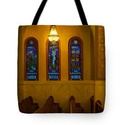 Stained Glass Windows At St Sophia Tote Bag