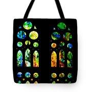 Stained Glass Windows - Sagrada Familia Barcelona Spain Tote Bag