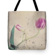 Stained Tulip Tote Bag by Cristina-Velina Ion