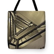 Stairing Up The Spinnaker Tower Tote Bag