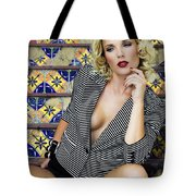 Stairs And Stripes Palm Springs Tote Bag