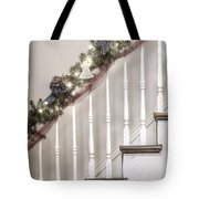 Stairs At Christmas Tote Bag by Margie Hurwich