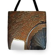 Stairs At Pemaquid Point Light In Maine Tote Bag