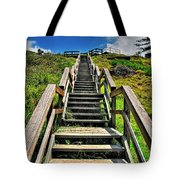 Stairs From The Beach Tote Bag