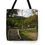 Stairs In The Park Tote Bag