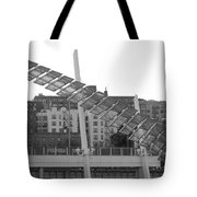 Stairs In The Sky In Black And White Tote Bag