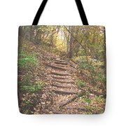 Stairs Into The Forest Tote Bag
