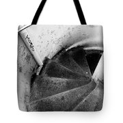 Stairs Leading Downward Into The Catacombs Of Paris France Tote Bag