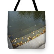 Stairs Leading Into Water Tote Bag