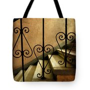 Stairs With Ornamented Handrail Tote Bag