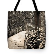 Stairway In Central Park On A Stormy Day Tote Bag