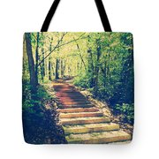 Stairway Into The Forest Tote Bag