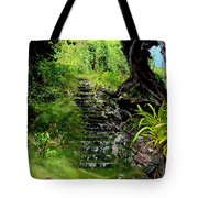 Stairway Through The Forest Tote Bag