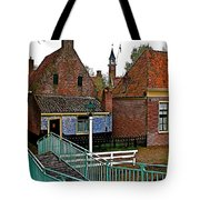 Stairway To Enkhuizen From The Dike-netherlands Tote Bag