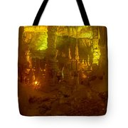 Stalactite Cave In Yellow Tote Bag