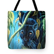 Stalking Black Panther Tote Bag