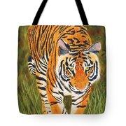 Stalking Tiger Tote Bag