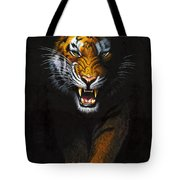 Stalking Tiger Tote Bag