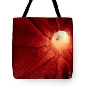 Burgundy Petal Tote Bag