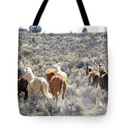 Stampede Of Wild Horses Tote Bag