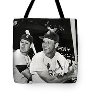 Stan Musial And Ted Williams Tote Bag