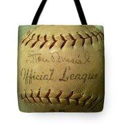Stan Musial Autograph Baseball Tote Bag