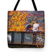 Stand By Me Impasto Tote Bag