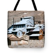 Standard Mill At Bodie Panorama Tote Bag by Barbara Snyder